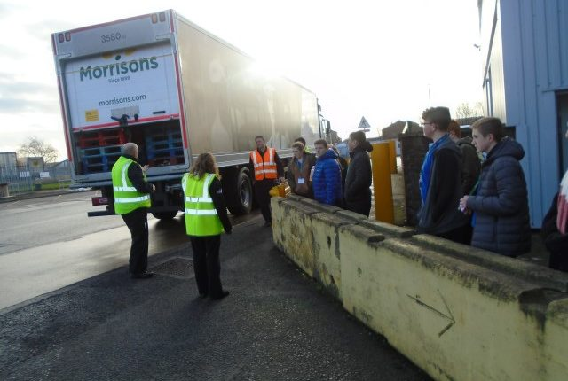 Students Helping to Unload the Van at Morrisons
